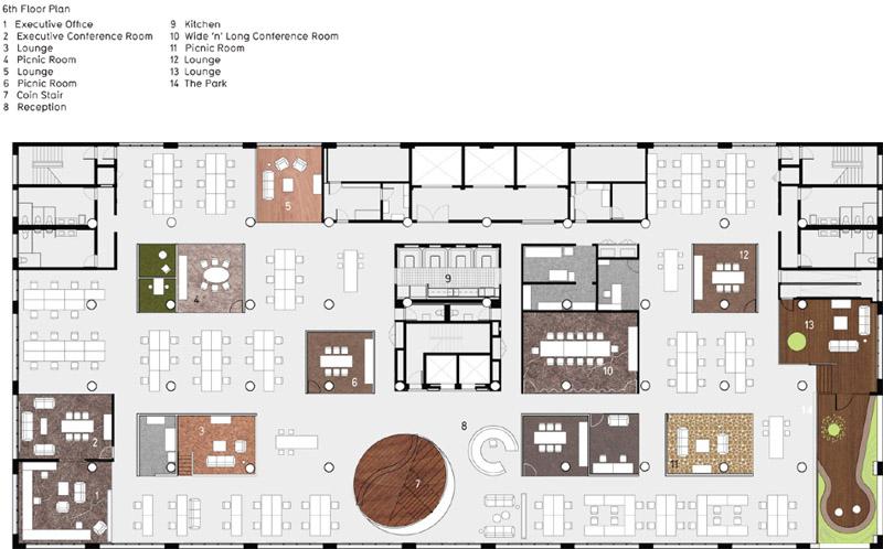 广告办公室空间设计平面图