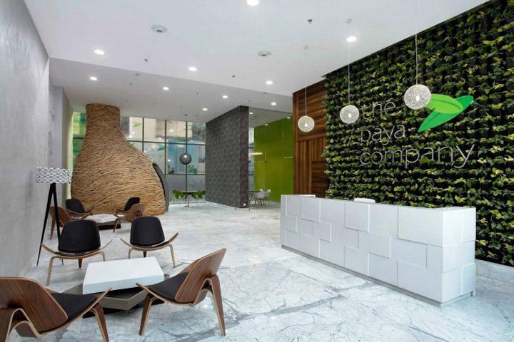 螺旋鸟巢空间:孟买Baya Park销售办公空间设计