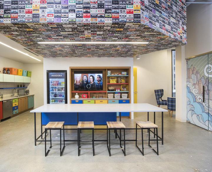 率性玩艺术 电台巨头Pandora明尼阿波利斯办公设计欣赏