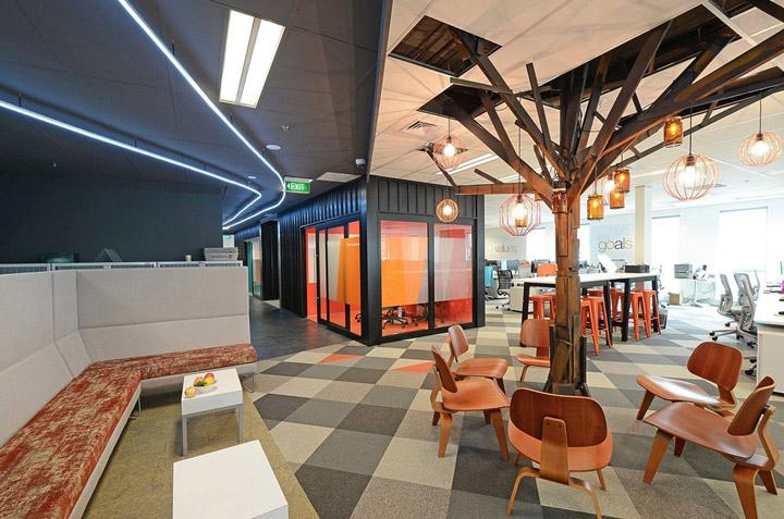 根深叶茂 财务软件MYOB奥克兰办公室设计欣赏