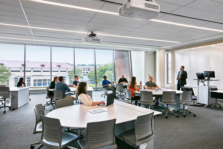 创新基地 堪萨斯大学商学院教学楼设计欣赏