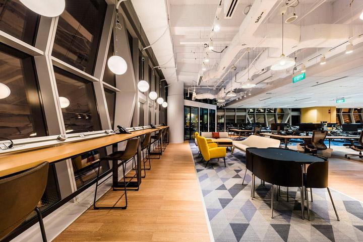 动感几何 Mintel英敏特新加坡办公室设计欣赏