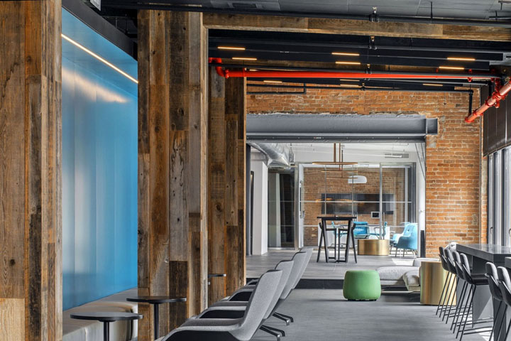 摩登工业风 保险集团Argo Group纽约办公设计欣赏