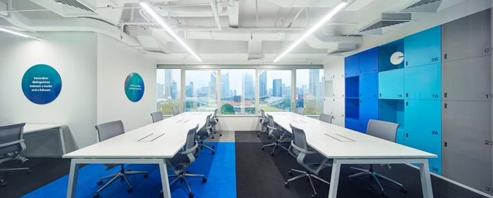 科技之蓝 英荔教育广州办公设计欣赏