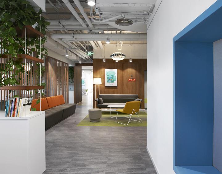 网课直播空间 新东方在线北京e世界办公设计欣赏