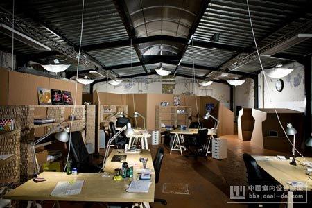 时尚办公网|办公设计|设计欣赏|纸板办公室设计欣赏