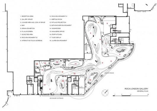 设计:扎哈哈迪德建筑师事务所 项目地点:英国伦敦 建筑面积:1100平方米 完成时间:2011年 摄影:Luke Hayes  扎哈哈迪德是炙手可热的普利策奖建筑大师,最近她刚刚完成了位于伦敦切尔西海港区英皇道的新乐家展厅。乐家是一家全球领先的卫浴品牌,通过其著名的创新实验室,致力于开发尖端、先进的产品,设立行业标杆、处于行业领先地位。 这个别具一格的展廊由扎哈哈迪德设计师事务所倾情打造,其灵感来源于不断变化的水元素。展廊作品是最近乐家展览的一个系列,这些展廊大多由世界著名建筑师设计,独特,先进,具有想