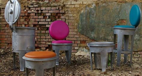 工业风:bins金属垃圾桶时尚创意家具